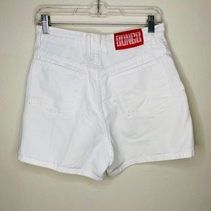 Vintage high waisted white bongo shorts.